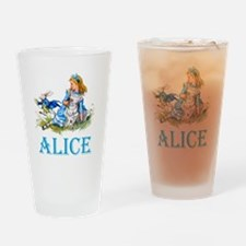 Alice and the White Rabbit Drinking Glass