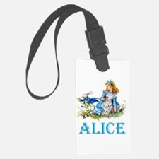 Alice and the White Rabbit Luggage Tag