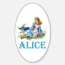 Alice and the White Rabbit Decal