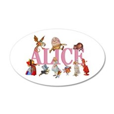 Alice in Wonderland and Frie Wall Decal