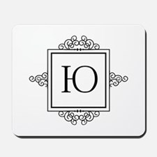 Russian U or Y yoo yu letter Monogram Mousepad