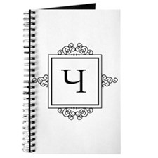 Russian Cheh letter Ch Monogram Journal