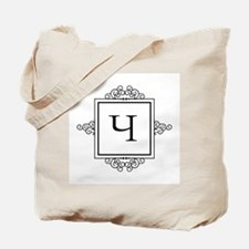 Russian Cheh letter Ch Monogram Tote Bag