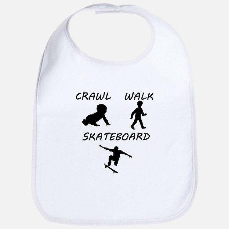 Crawl Walk Skateboard Bib
