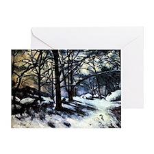 Cezanne - Melting Snow Greeting Card