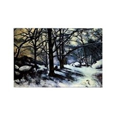 Cezanne - Melting Snow Rectangle Magnet