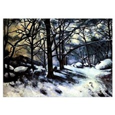 Cezanne - Melting Snow Poster