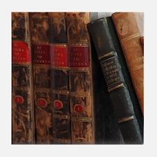 Old Books Tile Coaster