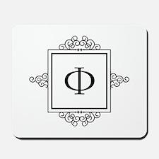 Russian Ehf letter F Monogram Mousepad