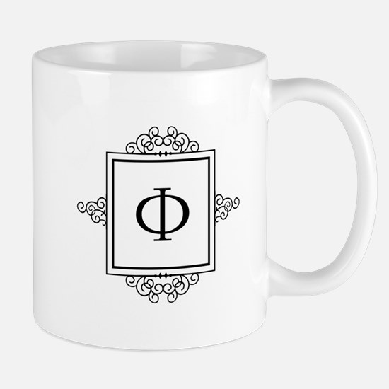 Russian Ehf letter F Monogram Mugs