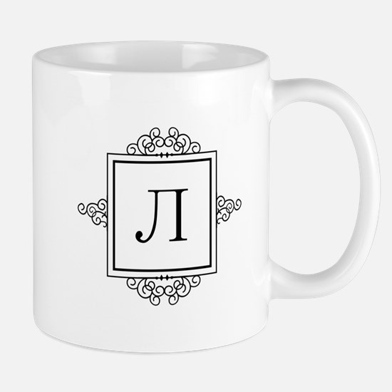 Russian Ehl letter L Monogram Mugs
