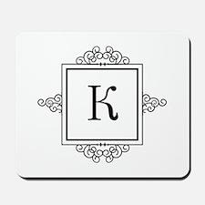 Russian Kah letter K or C Monogram Mousepad