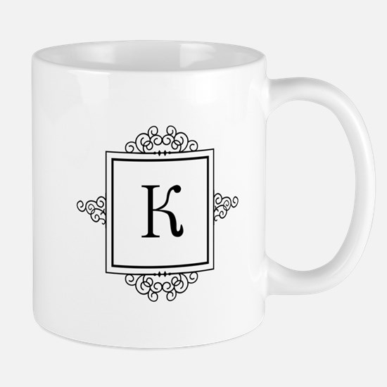 Russian Kah letter K or C Monogram Mugs