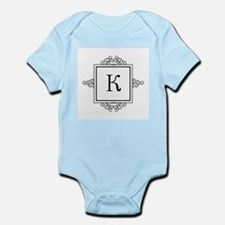 Russian Kah letter K or C Monogram Body Suit