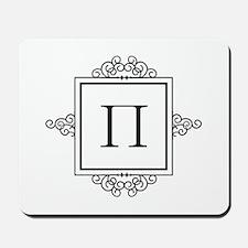 Russian Peh letter P Monogram Mousepad