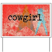 HOT COUNTRY COWGIRL Yard Sign