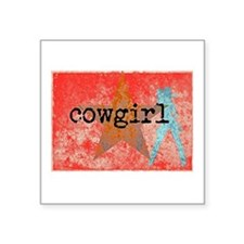 COUNTRY STAR COWGIRL Sticker