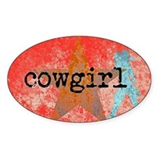 COUNTRY STAR COWGIRL Decal
