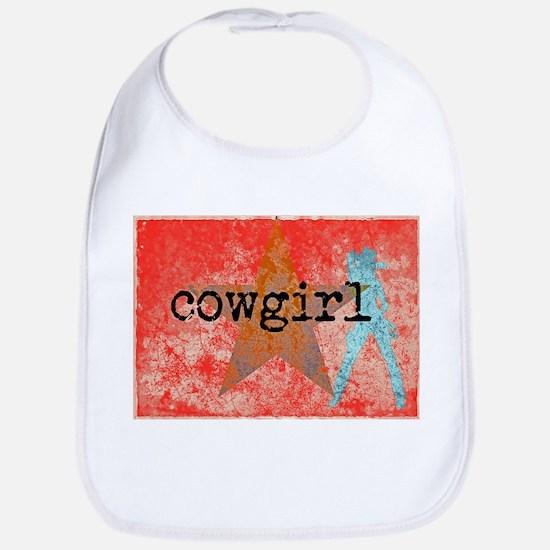 COUNTRY STAR COWGIRL Bib