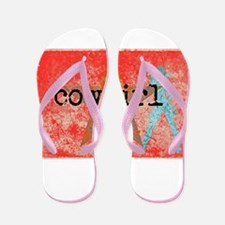 COUNTRY STAR COWGIRL Flip Flops