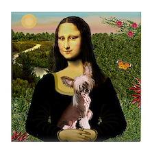 Mona Lisa Chinese Crested Tile Coaster