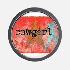 COUNTRY STAR COWGIRL Wall Clock