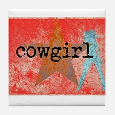 COUNTRY STAR COWGIRL Tile Coaster
