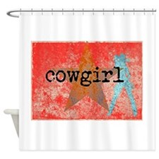 COUNTRY STAR COWGIRL Shower Curtain