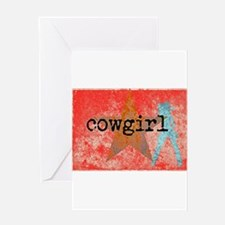 COUNTRY STAR COWGIRL Greeting Cards