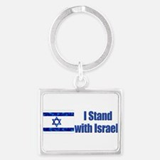 Unique I stand for israel Landscape Keychain