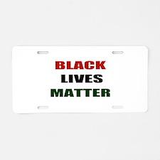Black lives matter 2 Aluminum License Plate