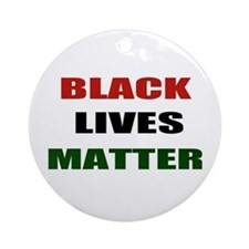 Black lives matter 2 Ornament (Round)