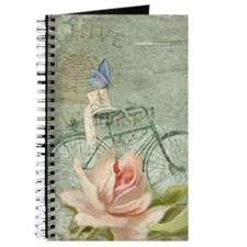 Cape May Porch Bicycle n Roses w Bee Hive Journal