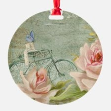 Cape May Porch Bicycle n Roses w Be Ornament
