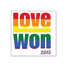 """Unique Gay marriage Square Sticker 3"""" x 3"""""""