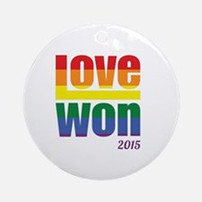 Cute Marriage equality Round Ornament