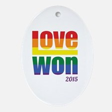 Unique Marriage equality Oval Ornament