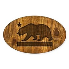 California Bear Wood Design Decal