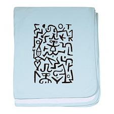Before Keith Haring baby blanket
