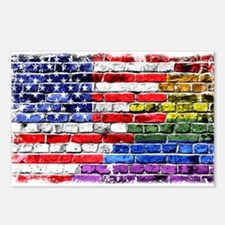 American & Rainbow Flags Postcards (Package of 8)