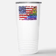 American & Rainbow Flags Travel Mug