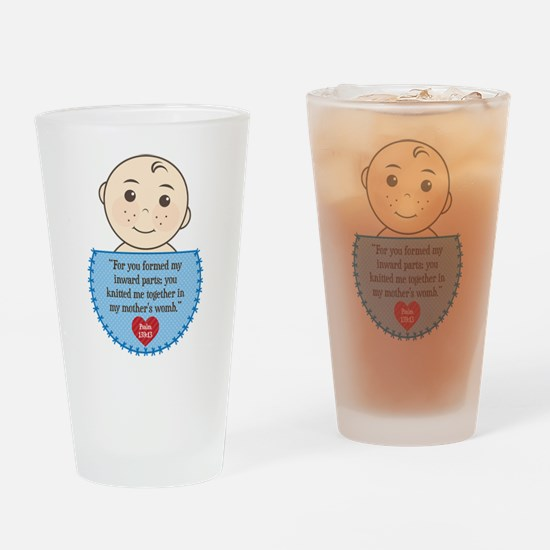 Pro-Life Psalm 139:13 Drinking Glass