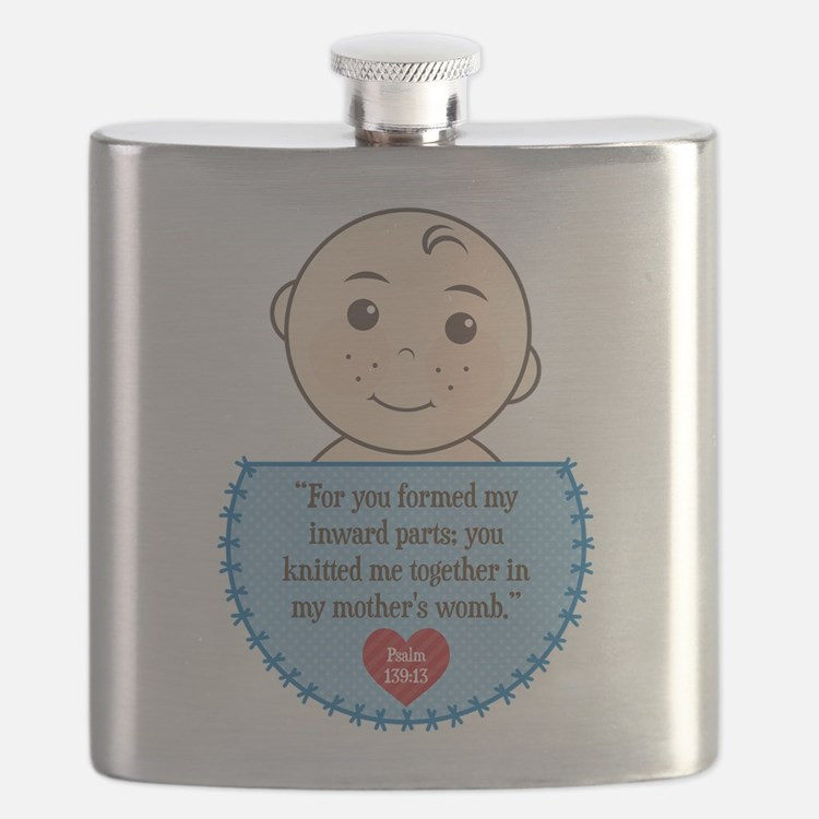 Pro-Life Psalm 139:13 Flask