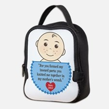 Pro-Life Psalm 139:13 Neoprene Lunch Bag