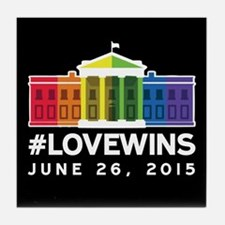 #LoveWins Tile Coaster