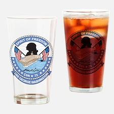 Uss George Washington Cvn 73 Drinking Glass