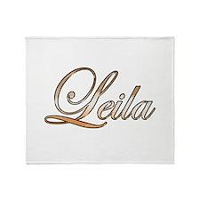 Gold Leila Throw Blanket