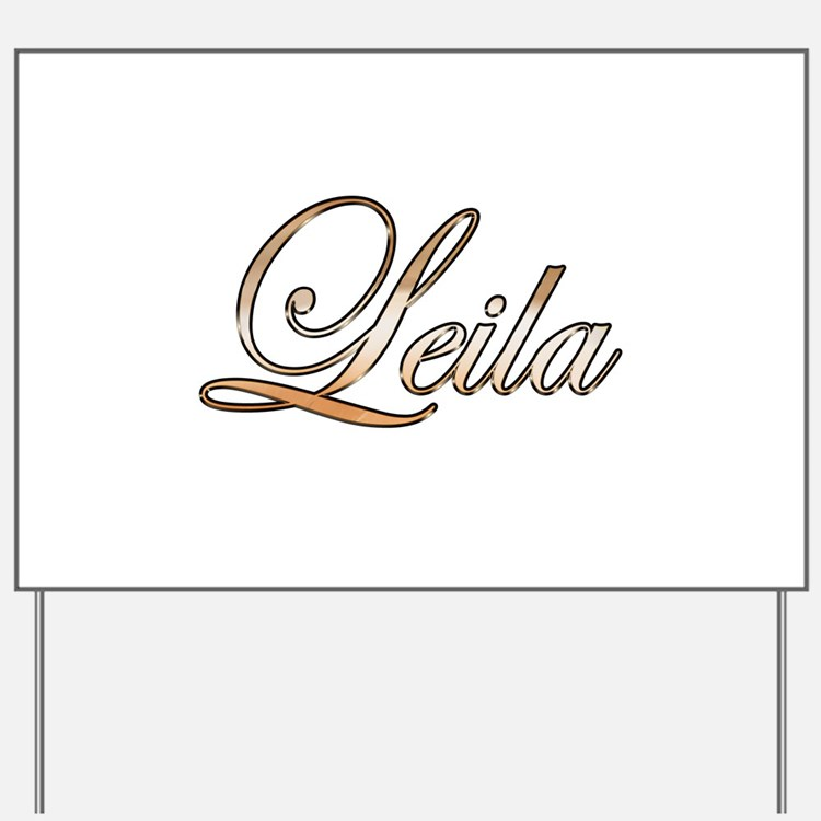 Gold Leila Yard Sign