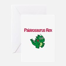 Paigeosaurus Rex Greeting Card