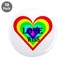 "Love Wins 3.5"" Button (10 pack)"